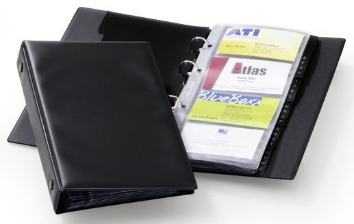 Визитница Durable 244101 96 шт черный comix durable 50 page 12 stapler w staples blue 3 pcs