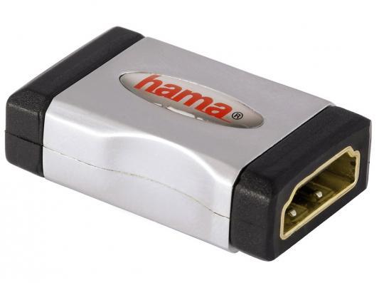 Переходник HDMI(f)-HDMI(f) Hama High Speed серо-черный 00122231