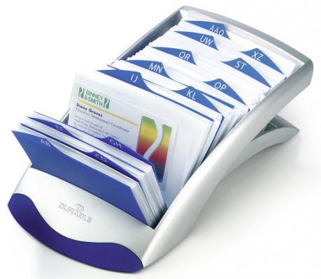 Визитница Durable Visifix desk 200 шт серебристый 241323 визитница durable business card box 20 шт серебристый 2415 23