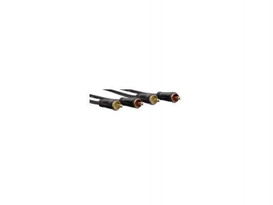 Кабель соединительный 5.0м Hama 2xRCA (M) - 2xRCA (M) позолоченные контакты черный 00122284 m 860