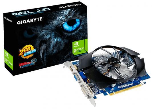 Видеокарта 2048Mb Gigabyte GT730 PCI-E GDDR5 64bit VGA HDMI DVI HDCP GV-N730D5-2GI Retail