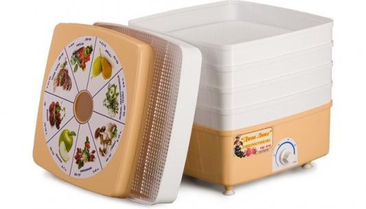 Сушилка для овощей и фруктов Дачница Люкс СШ-010 белый 5 поддонов