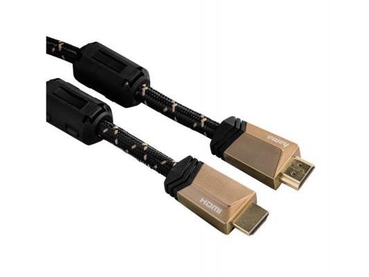Кабель HDMI 3.0м Hama High Speed позолоченные контакты бронзовый 122125