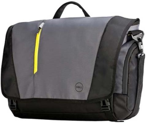 "Сумка для ноутбука 17"" DELL 460-BBKO полиэстер нейлон черный серый сумка для ноутбука dell tek 8cpgh 17 черный cерый 460 bbko"