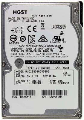 """Жесткий диск для ноутбука 2.5"""" 300Gb 10000rpm 64Mb cache Hitachi Ultrastar SAS HUC109030CSS600"""