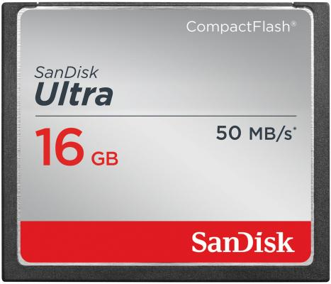 Карта памяти Compact Flash Card 16Gb SanDisk SDCFHS-016G-G46 карта памяти compact flash card 128gb sandisk vpg 65 udma 7 sdcfxps 128g x46