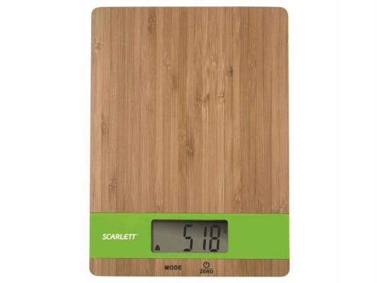 Весы кухонные Scarlett SC-KS57P01 бамбук