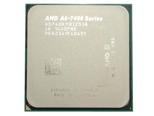 Процессор AMD A6 X2 7400K 3.5GHz 1Mb AD740KYBJABOX Socket FM2 BOX процессор amd a8 7500 3 0ghz 2mb ad7500ybi44ja socket fm2 oem