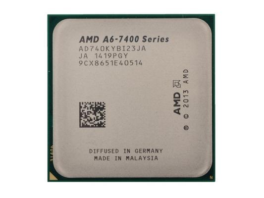 Процессор AMD A6 X2 7400K 3.5GHz 1Mb AD740KYBI23JA Socket FM2 OEM процессор amd a4 4000 ad4000okhlbox socket fm2 box