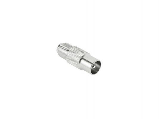 Адаптер Hama H-43456 антенный спутниковый коаксиальный (m) - F-штекер (f) металлический