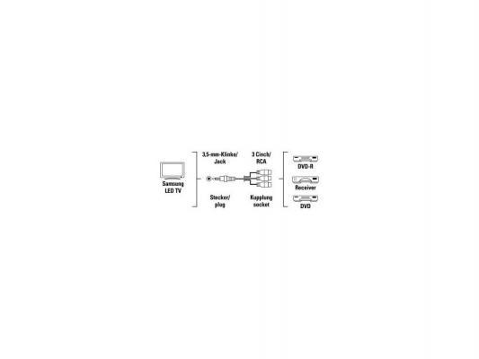 Адаптер Hama Jack 3.5(m)-3RCA(f) для Samsung LED TV черный 122247