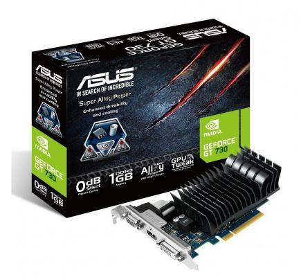 Видеокарта 1024Mb ASUS GeForce GT730 SILENT BRK PCI-E 128bit GDDR3 DVI HDMI GT730-SL-1GD3-BRK Retail