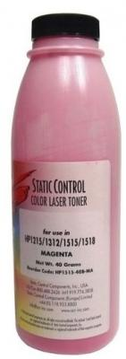Фото - Тонер Static Control HP1515-40B-MA для HP CLJCP1215/1515/1518 пурпурный 40гр тонер static control hp1515 40b c для hp cljcp1215 1515 1518 голубой 40гр