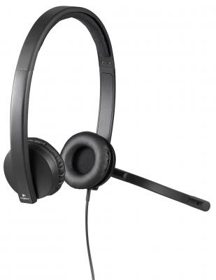 Гарнитура Logitech Headset H570e Stereo USB 981-000575 logitech premium stereo headset with noise canceling microphone