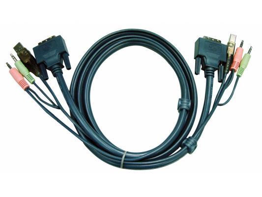 Кабель ATEN 2L-5303U HD15M/USBM/SP/SP-SPHD15M 3M цена