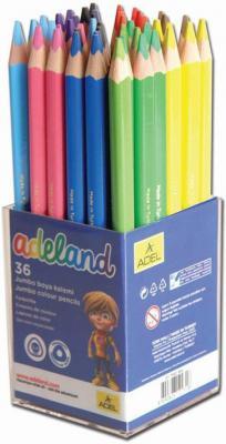 Набор цветных карандашей Adel ADELAND Jumbo 36 шт 211-7510-104 карандаши цветные adel adeland jumbo 5 4мм 12 цветов 211 7510 110