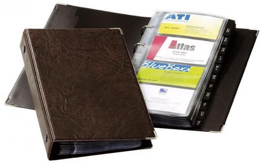 Визитница Durable 238311 200 шт коричневый comix durable 50 page 12 stapler w staples blue 3 pcs