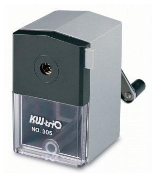 Точилка KW-trio 305AGR пластик серый