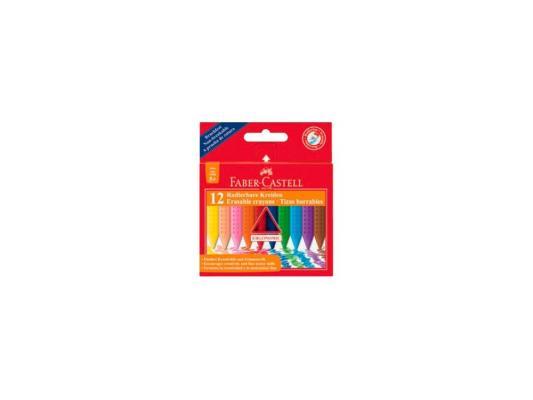 Восковые мелки Faber Castell Grip стирающиеся 12 цветов 12 штук от 3 лет 122520