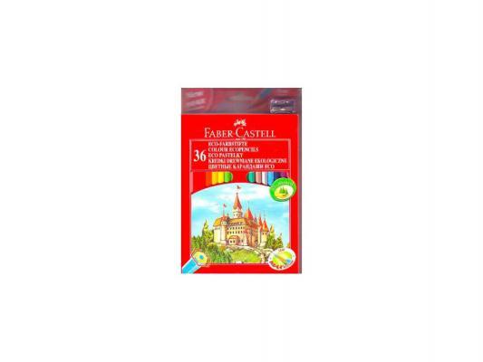 Набор цветных карандашей Faber-Castell Eco Замок с точилкой 36 шт 120136