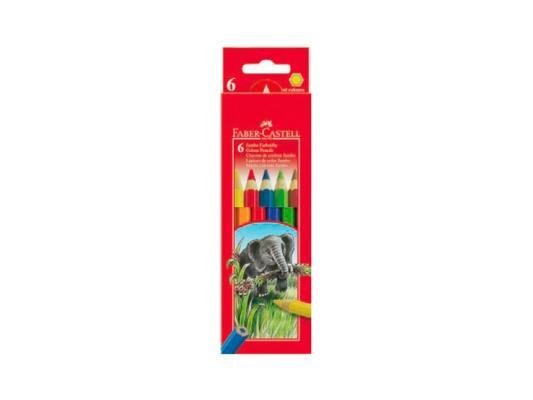 Набор цветных карандашей Faber-Castell Jumbo 6 шт 111206 faber castell набор угольных карандашей pitt 3 шт