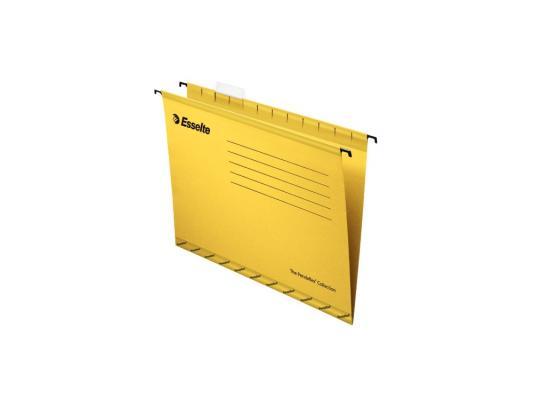 цены Папка подвесная Esselte Pendaflex Plus Foolscap 405x365x242мм 25шт желтый 90335