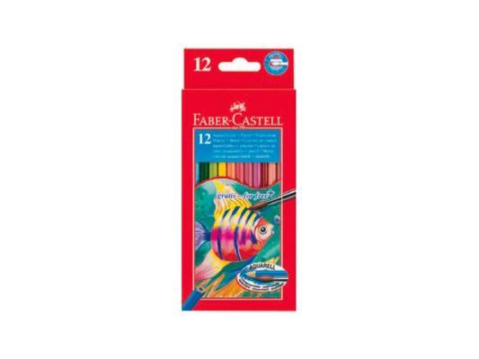 Набор цветных карандашей Faber-Castell Colour Pencils 12 шт акварельные 114413 акварельные карандаши colour pencils с кисточкой набор цветов в картонной коробке 12 шт