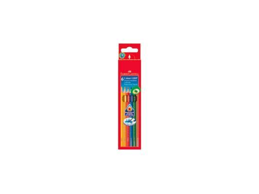 Набор цветных карандашей Faber-Castell Grip 2001 6 шт акварельные 112406