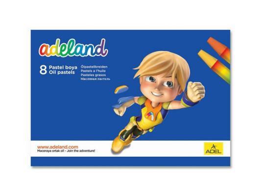 Восковые мелки Adel ADELAND шестиугольные 11.5 мм 428-0817-100 8 цветов 8 штук от 3 лет