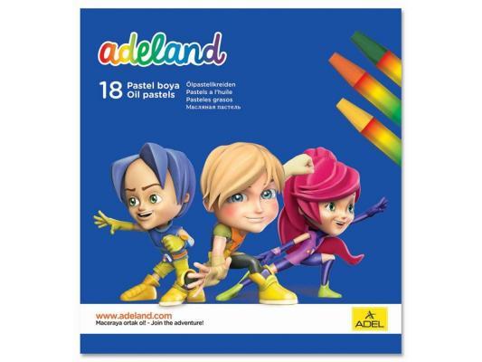 Восковые мелки Adel ADELAND шестиугольные 11.5 мм 18 цветов 18 штук от 3 лет 428-0857-100