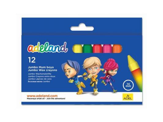 Восковые мелки Adel ADELAND JUMBO 12 цветов 12 штук от 3 лет 434-2854-100