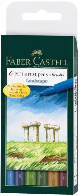 Набор капиллярных ручек Faber-Castell Pitt Artist Pen натуральные оттенки 6 шт разноцветный 167105