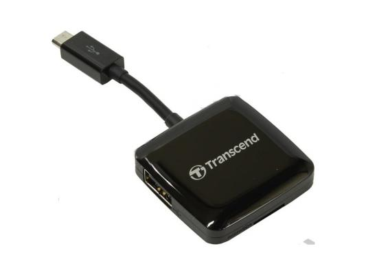 Картридер внешний Transcend TS-RDP9K SDXC SDHC SD microSDXC microSDHC microSD черный