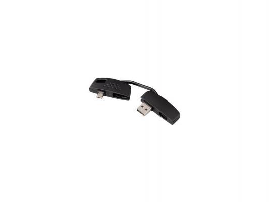 Адаптер Hama H-115037 для зарядки и передачи данных Piccolino USB-micro USB брелок черный