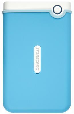 """Внешний жесткий диск 2.5"""" USB3.0 1 Tb Transcend StoreJet 25М TS1TSJ25M3B голубой"""