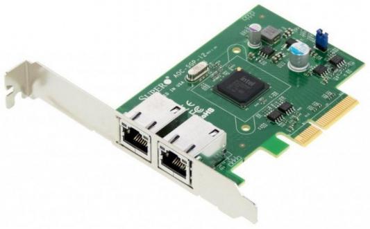 Сетевой адаптер SuperMicro AOC-SGP-I2 10/100/1000 Мбит/c PCI-E 2xRJ-45 high quality brand new new female 6 pin mini din mini din connector adapter