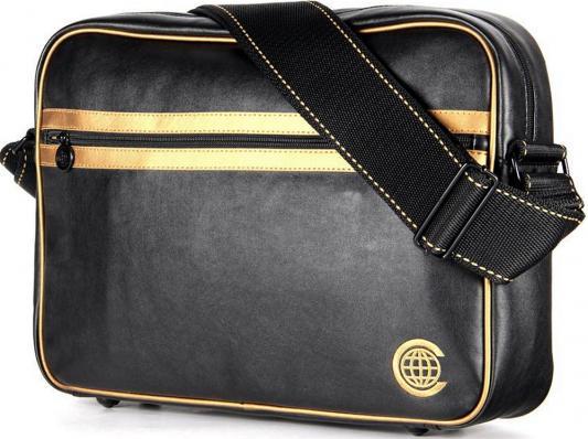 """Сумка для ноутбука 15"""" Continent CC-065 Black/Gold"""