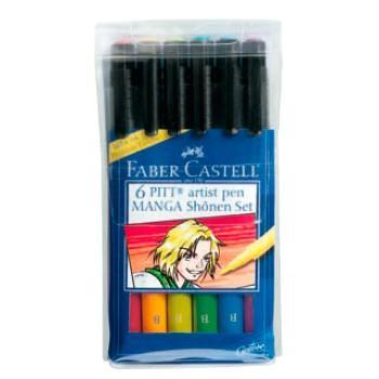 Набор капиллярных ручек Faber-Castell Manga 6 шт разноцветный 167131