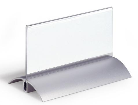 Информационная табличка Durable De Luxe настольная 52х100мм прозрачная 2шт 8200-19