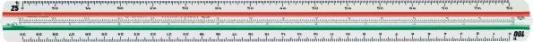 Линейка Faber-Castell 853 HP/D трехгранная школьная 1:20-100 в пластмассовом пенале 176535