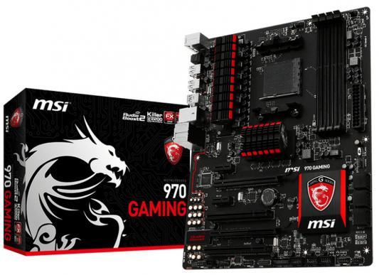 Материнская плата MSI 970 GAMING Socket AM3+ 4xDDR3 2xPCI-E 16x 2xPCI-E 1x 2xPCI 6xSATAIII USB 3.0 ATX Retail