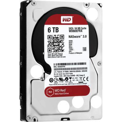 Жесткий диск 3.5 6 Tb 5400rpm 64Mb cache Western Digital Red SATAIII WD60EFRX