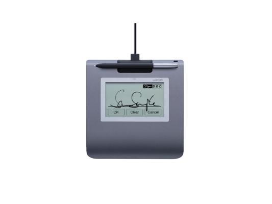 Графический планшет Wacom SignPad STU-430 для электронной подписи черный USB все цены