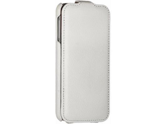 Чехол-книжка iRidium для Samsung Galaxy S5 натуральная кожа белый