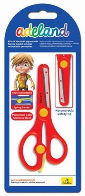 Ножницы Adel Adeland школьные линейка на лезвиях длина 130мм ассорти 460-0145-800 от 123.ru