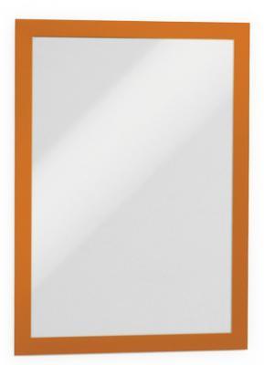 Магнитная рамка информационная Durable Magaframe cамоклеящаяся А4 оранжевый 2шт 487209