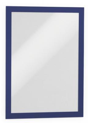 Магнитная рамка информационная Durable Magaframe cамоклеящаяся А4 синий 2шт 487207