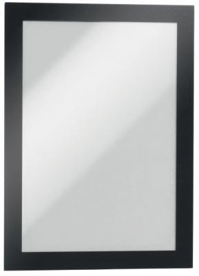 Магнитная рамка информационная Durable Magaframe cамоклеящаяся А4 черный 2шт 487201
