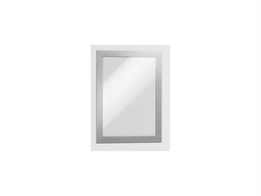 Магнитная рамка информационная Durable Magaframe cамоклеящаяся А5 серебристый 2шт 487123