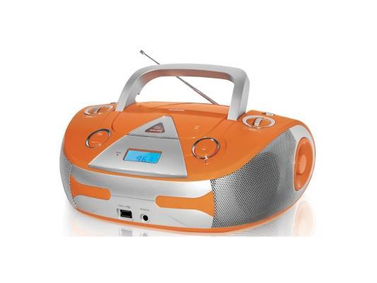 лучшая цена Магнитола BBK BX325U оранжево-серебристый